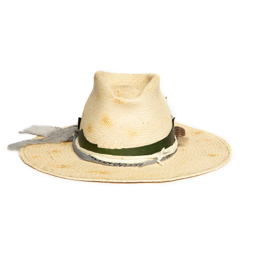 Natural Fedora in luxury Straw by Hatmaker Alberto Hernandez of Meshika Hats