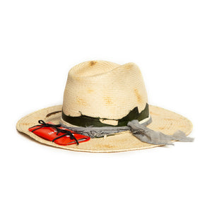 Custom Natural Fedora in luxury straw by Celebrity Hatmaker Alberto Hernandez of Meshika Hats