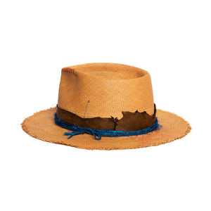 Custom Fedora by Hatmaker Alberto Hernandez of Meshika Hats Made in Los Angeles California