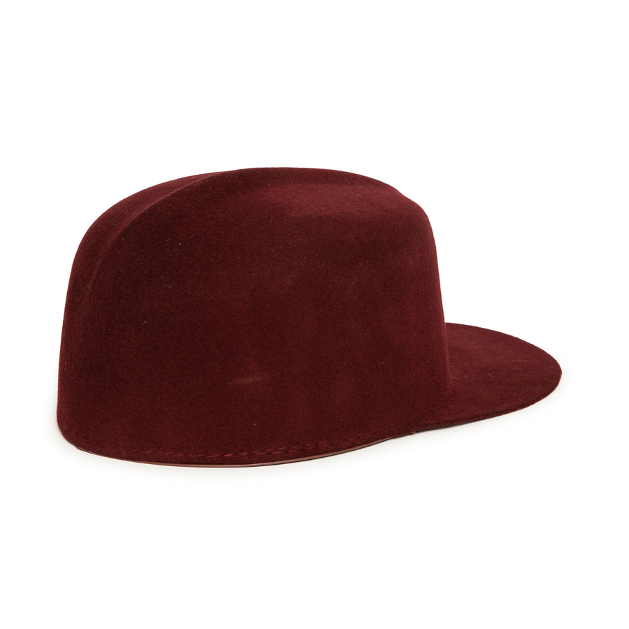 Maroon Custom Cap by Hatmaker Alberto Hernandez of Meshika Hats Made in Los Angeles California