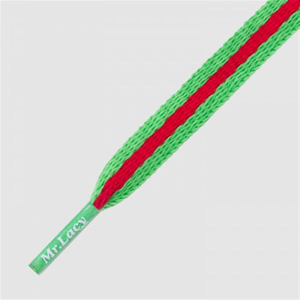 Stripies Shoelaces - Kelly Green/Red