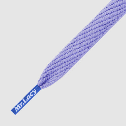 Mr.Lacy Flatties Coloured Tips Shoelaces - Lila with Royal Blue Tip
