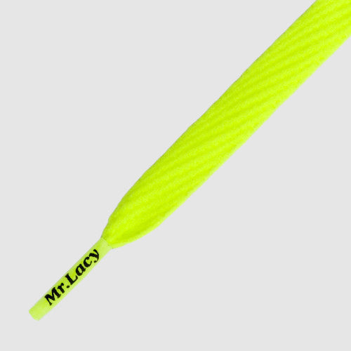 Flatties Shoelaces - Neon Lime Yellow