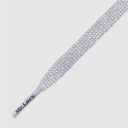 Flatties Shoelaces - Silver