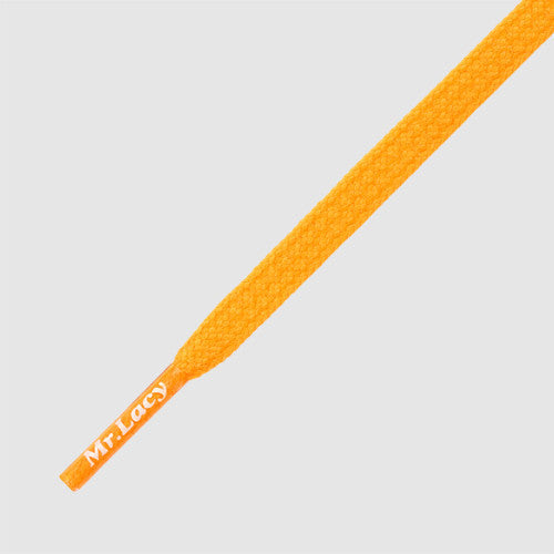 Goalies Football Boot Laces - Bright Orange