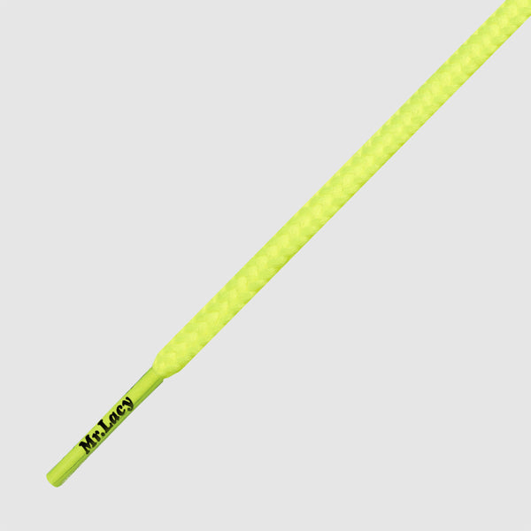Goalies Slim Football Boot Laces - Neon Lime Yellow
