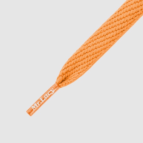 Junior Flatties Shoelaces - Bright Orange