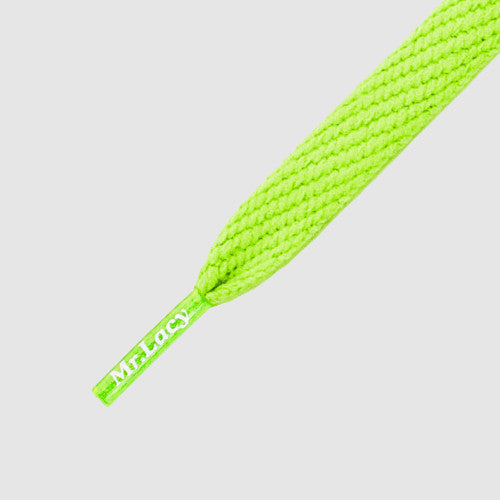 Junior Flatties Shoelaces - Neon Green