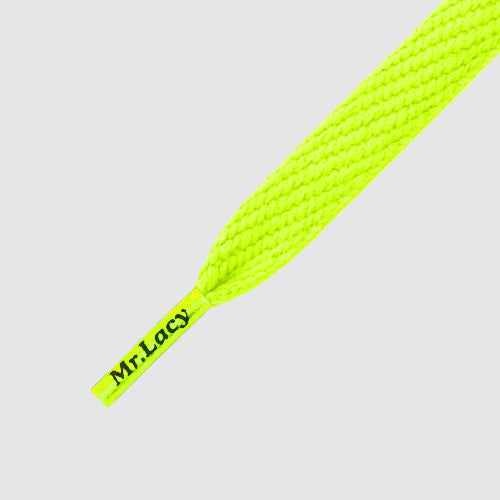 Junior Flatties Shoelaces - Neon Lime Yellow