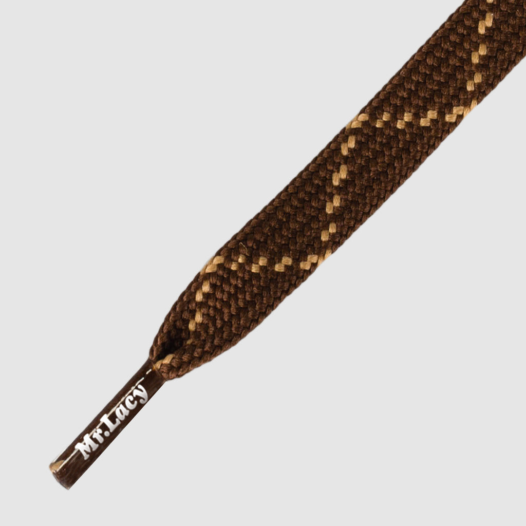 Hikies Flat 210 cm Boot Laces - Dark Brown/Light Brown