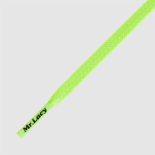 Goalies Football Boot Laces - Neon Green