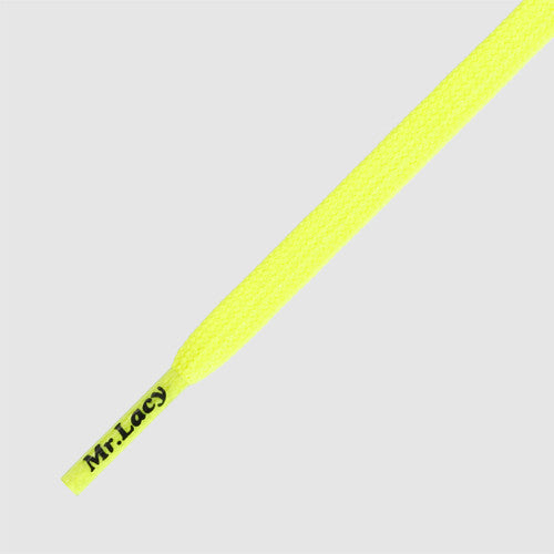 Goalies Football Boot Laces - Neon Lime Yellow