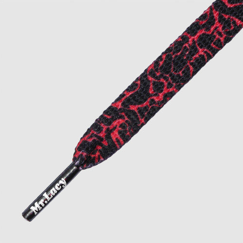 Mr.Lacy Printies Shoelaces - Elephant Red/Black