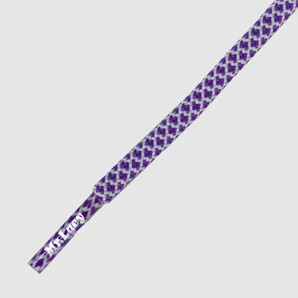 Ropies Shoelaces - Violet/White