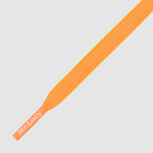 Slimmies Two Tone Shoelaces - Bright Orange and Neon Lime