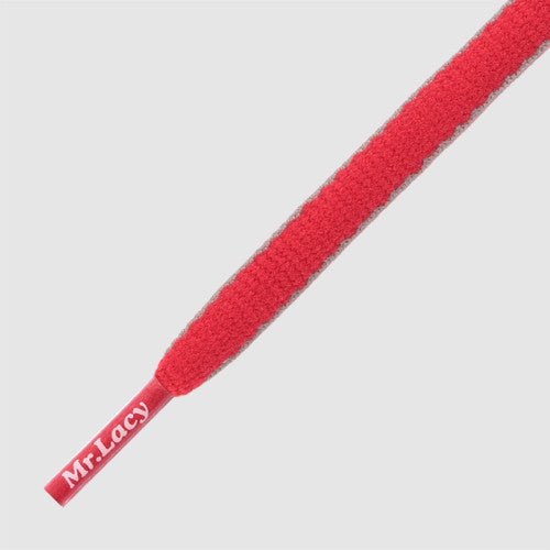 Slimmies Two Tone Shoelaces - Red and Grey