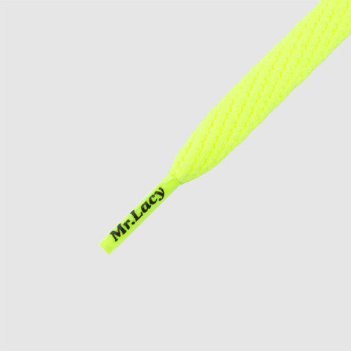Smallies Shoelaces - Neon Lime Yellow