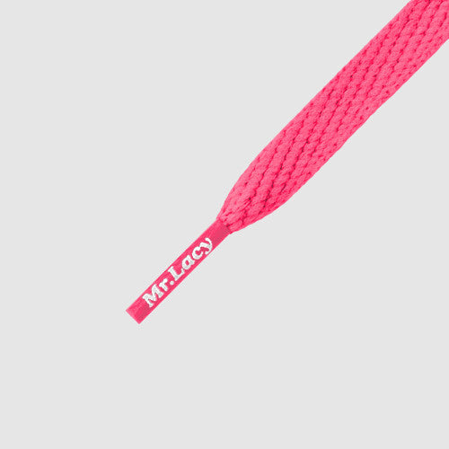 Smallies Shoelaces - Neon Pink