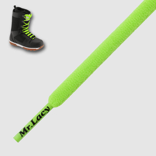 Snowies Snowboard Boot Laces - Neon Green