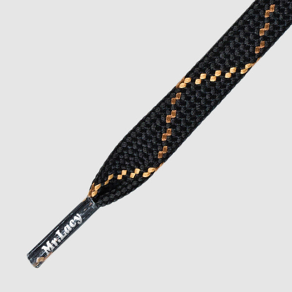 Hikies Flat 120 cm Boot Laces - Black/Brown/Light Brown