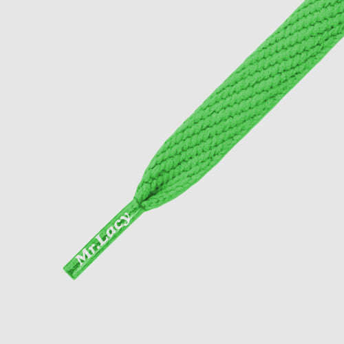 Junior Flatties Shoelaces - Kelly Green