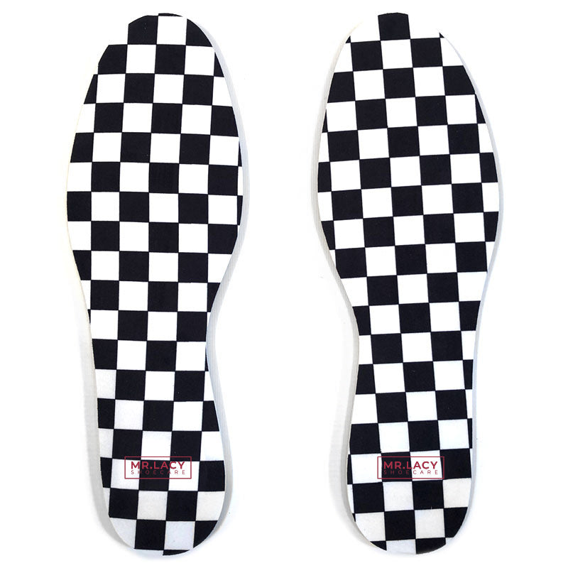 Mr.Lacy Shoecare Relax Insole Print Checkered Black/White