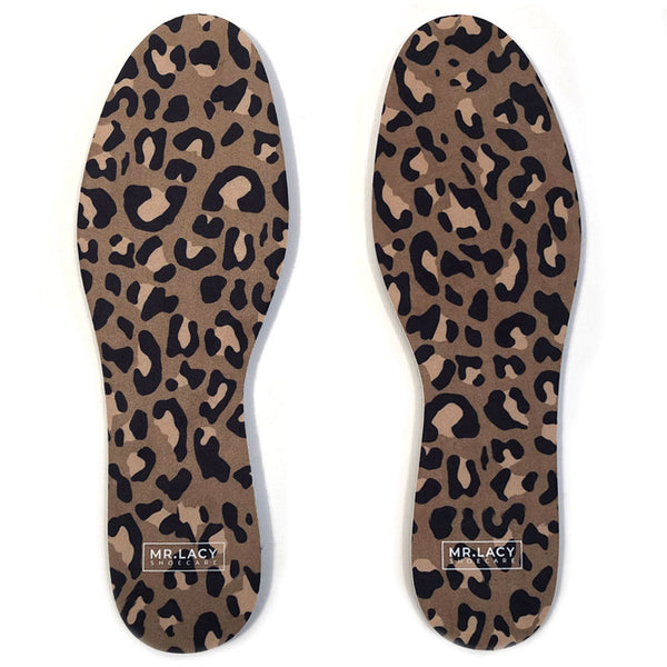 Mr.Lacy Shoecare Relax Insole Print Leopard Brown