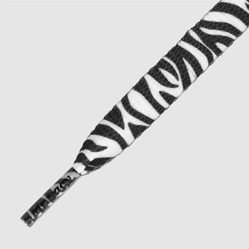 Mr.Lacy Printies Shoelaces - Zebra Black/White