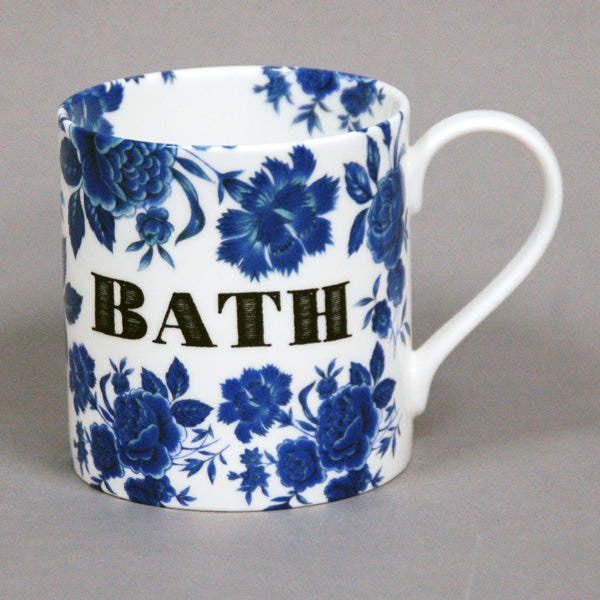 Bath Blue Rose Mug