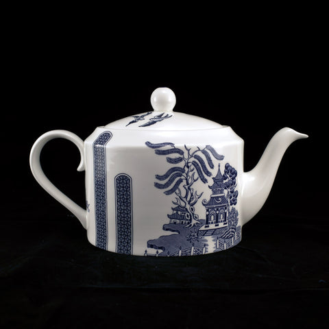 Blue Fish City Teapot