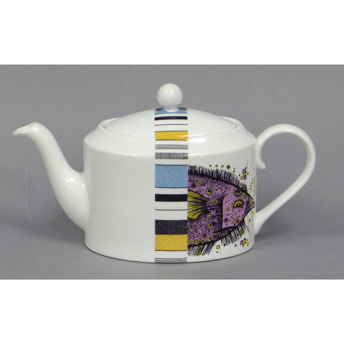 Fish Stripe Teapots