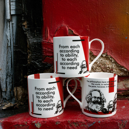"CHOOSE THE PRICE YOU PAY! Karl Marx ""From Each According to Ability..."" Mug: FIRST EDITION"