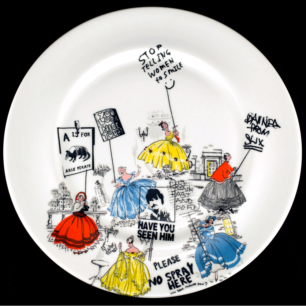 Lady Protest Dinner Plate