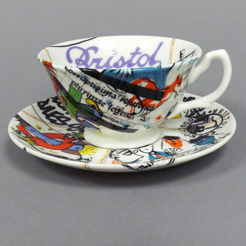 Spode Bluebird Coffee Can