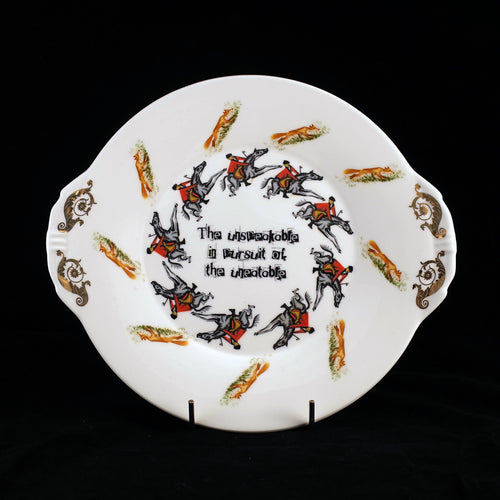 Oscar Wilde Anti Fox Hunt Plate