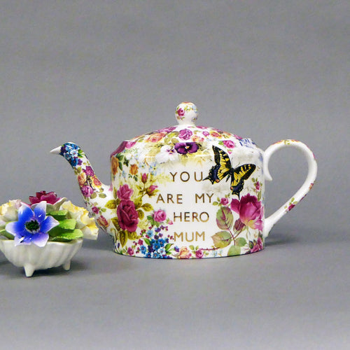 You are my Hero Mum Teapot