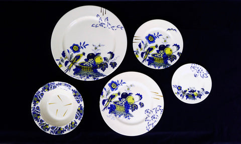 Deconstructed Willow Pattern Plates various