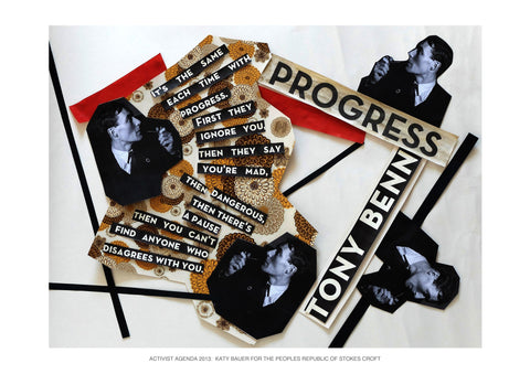 Tony Benn A3 Poster - Progress