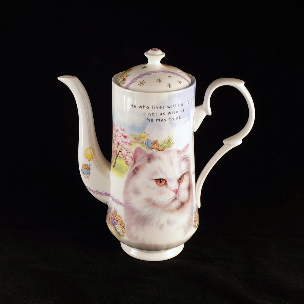 """He who lives without folly"" Coffee Pot"