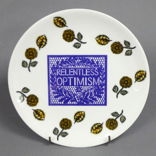 Relentless Optimism Plates