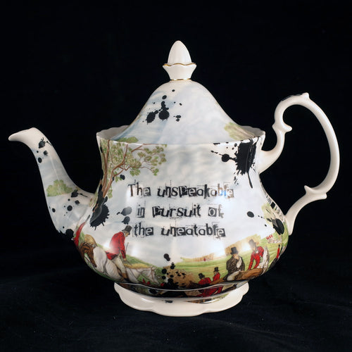Oscar Wilde Anti Fox Hunt Royal Albert Teapot