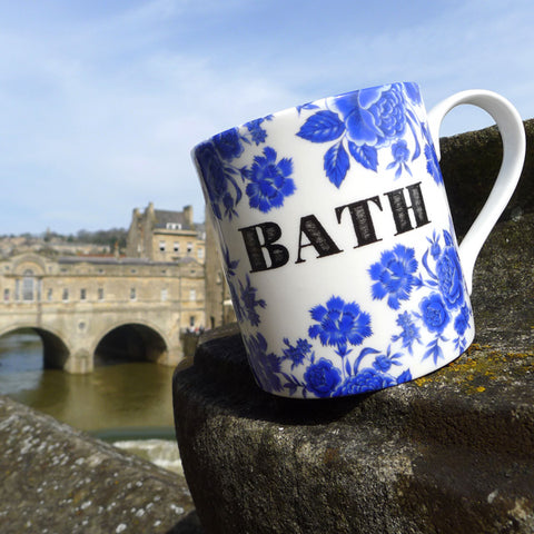 Bristol Blue Rose Mug