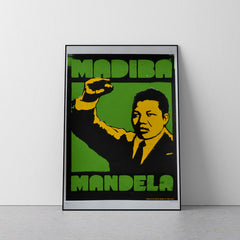 Madiba Mandela Limited Edition Screen Print by Felix Braun