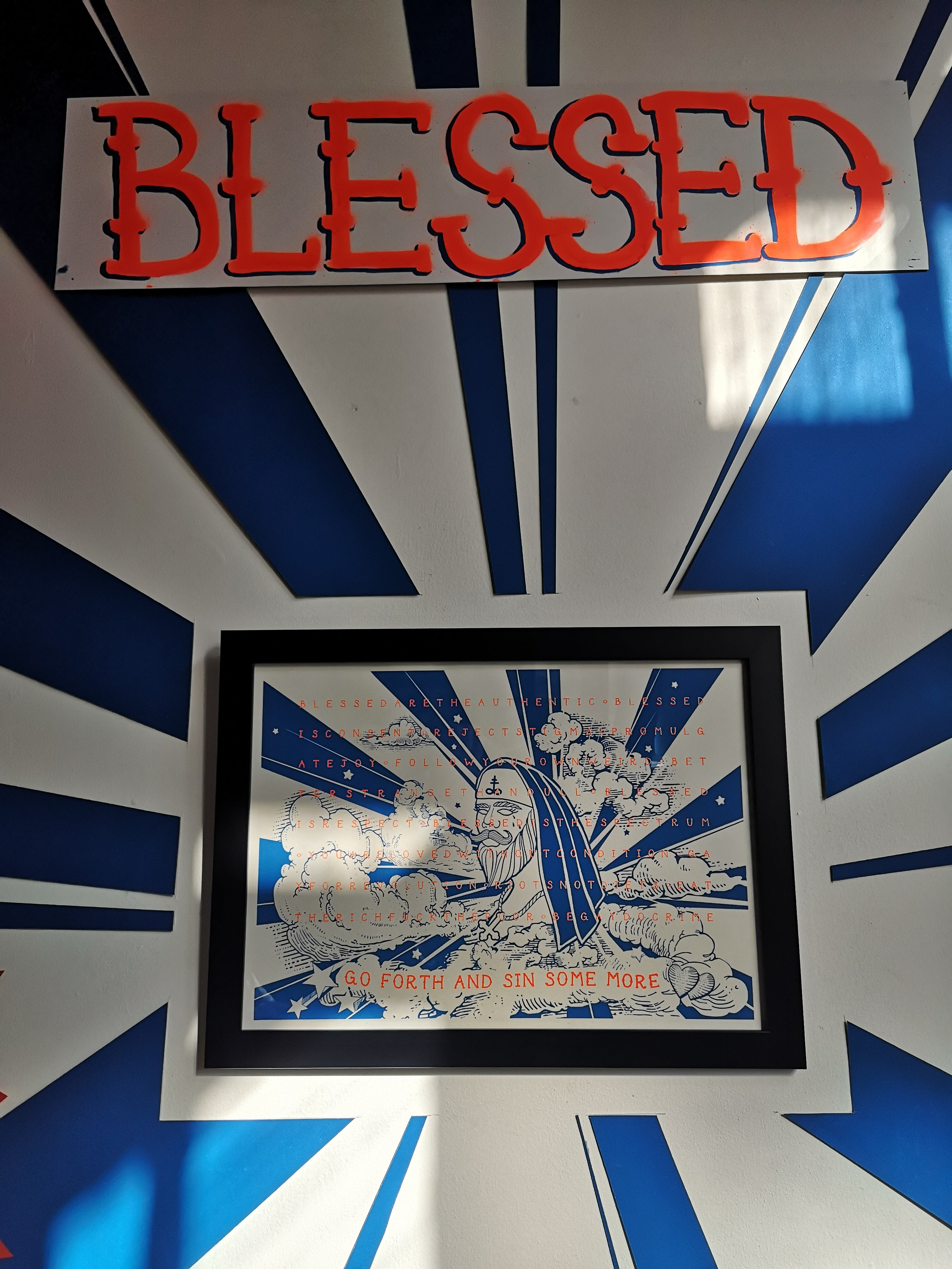 Blessed - A3 Screen Print