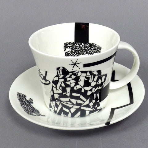 Truth Beauty Justice Respect Coffee Cup and Saucer