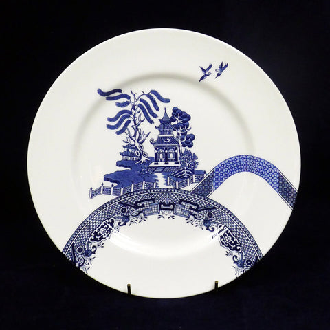 Deconstructed Willow Pattern Fruit Bowl