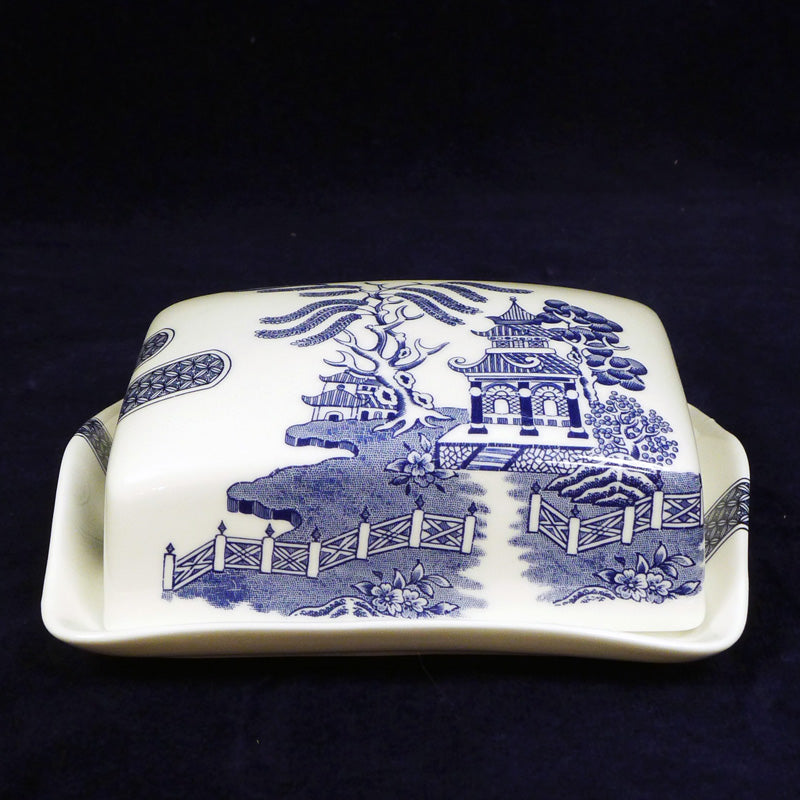 Deconstructed Willow Pattern Butter Dish