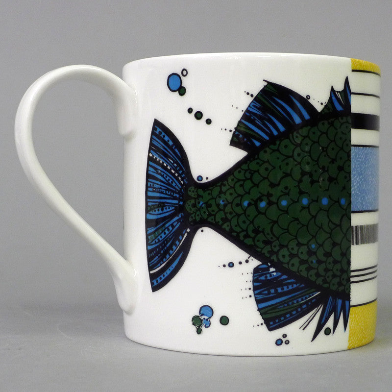 stokes_croft_china_Bristol_fine_English_bone_china_1960's flying fish mug green_mug