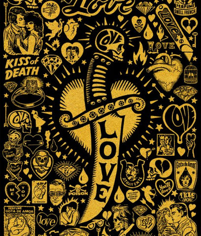 """Love"" screenprint"