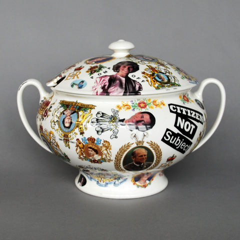 "FINE BONE CHINA TUREEN ""POMP OFF"""